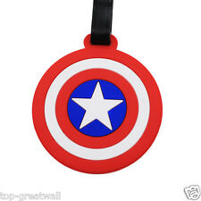 New Captain America Shield Silicone Travel Luggage Tags Baggage Tags