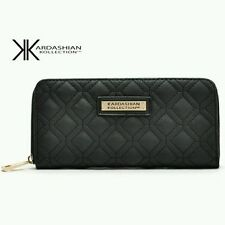 KARDASHIAN KOLLECTION CLASSY FASHION WOMEN PURSE - WALLET BLACK