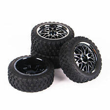 Rally Tires Wheel For HSP HPI 1:10 RC Racing Car Set 12mm Rim Hex  of 4pcs 11087