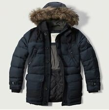 NWT  Abercrombie & Fitch Hooded Puffer Parka Down Jacket men's size L  LARGE