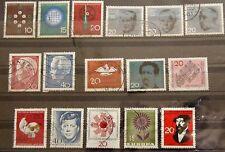 Bund Briefmarken 1964 Technik u.Wissenschaft, Lübke, Einzelmarken aus Block 3 +