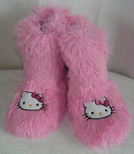 Hello Kitty Slipper Booties PINK SOFT WARM NICE GIFT FREE SHIPPING SMALL 5-6