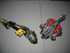 2001 Mostly There Lego Bionicle Rahi Muaka And Kane-ra 8538 Vintage Lot Dragons