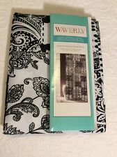 Waverly Belinda Patch Patchwork Toile Black White Floral Paisley Shower Curtain