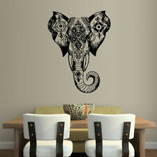 Wall Vinyl Sticker Decal Ganesh Om Elephant Tattoo Head Mandala Tribal (Z2440)