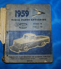 1959 Dodge Fargo Trucks Parts Catalogue List Book