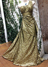 £295 As Featured in VOGUE Glamorous MONSOON *Saturn* gold XMAS gown size 12/14