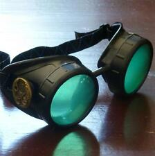 Steampunk goggles glasses welding diesel punk biker goth cosplay rave lens owp
