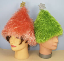 PRINTED KNITTING INSTRUCTIONS - SIMPLE EYELASH CHRISTMAS TREE BEANIE HAT PATTERN