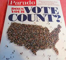 PARADE MAGAZINE APRIL 2016 DOES YOUR VOTE COUNT ELECTORAL COLLEGE ELECTION