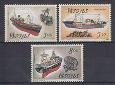 Färöer 1987 ** Mi.151/53 Schiffe Ships   Fischereischiffe   Fishing