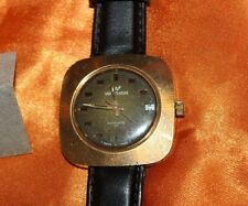 Vintage 1970's Waltham Swiss Made 17 Jewel Automatic Leather Watch F94