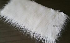 "10"" x 20"" Long Hair White Faux Fur Fabric Sew Craft Trim Costume NEW!"