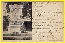 cpa Vue RARE 92 - VILLE d'AVRAY Berges de l'Etang MONUMENT à COROT Ed. LANGLOIS