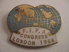 RARE OLD 1966 WORLD CUP FIFA CONGRESS LONDON ENAMEL BROOCH PIN BADGE