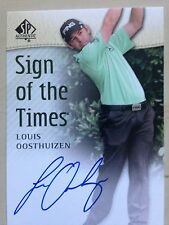 2014 UD SP Authentic Golf Sign Times LOUIS OOSTHUIZEN Signed Auto