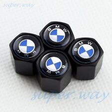 BLACK Styling Car Wheel Tire Tyre Valve Air Caps BMW 4 PCS Metal Cover Auto Set