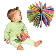 3x New Soft Cloth Baby Kid Intelligence Development Learn Picture Cognize Book