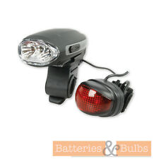 Wind Up Bike Light Set LED Front and Rear Dynamo No Batteries Required!