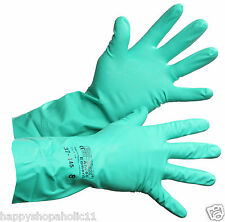 SOLVEX ANSELL EDMONT GREEN RUBBER GLOVES 37-175, SIZE 8, LOT OF 5 PAIRS