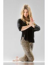 HARD TAIL FOREVER LEOPARD LOW-RISE LAYERING LEGGINGS SMALL