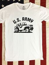 WWII US Army Jeep T Shirt Reproduction w/ Spec Tag Mens size S-XL