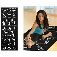 28 POSITION EXCERCISE GUIDE MAT YOGA EXERCISE FITNESS WORKOUT PHYSIO NON SLIP