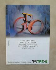 D939 - Advertising Pubblicità -1988- GEO DI FOLCO QUILICI , UN PROGRAMMA DI RAI3