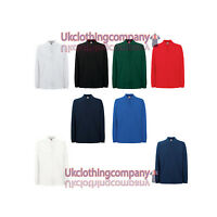 Fruit Of The Loom Premium Long Sleeve Polo - Mens' polo tops - S M L XL 2XL 3XL