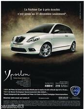 PUBLICITE ADVERTISING 095 2009  LANCIA YPSILON  PLATINO DIESEL MULTIJET