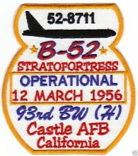 USAF B-52 STRATOFORTRESS, OPERATIONAL 12 MARCH 1956, 93BW H, CASTLE AFB, CA.   Y