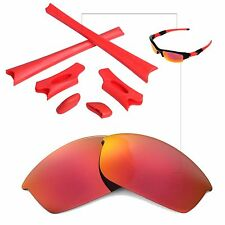 WL Fire Red Replacement Lenses And Rubber Kit For Oakley Flak Jacket