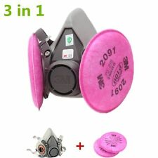 New Dust Mask Half face Respirator Spray Painting For 3M 6200 2901 Filters
