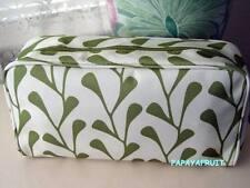 Clinique~Olive Green Cornsilk Fabric Case~ Cosmetic Bag