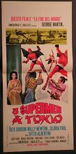 Locandina 3 SUPERMEN A TOKIO 1°ED.IT.1968 GORDON NEWTON GLORIA PAUL