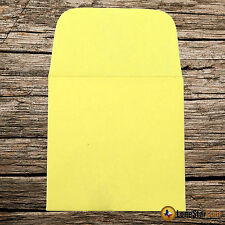 250 2x2 Yellow Paper Coin Envelopes - Acid and Sulpher Free - Safe for Coins