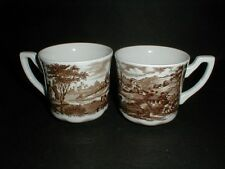 2 J G Meakin Royal Staffordshire Brown STRATFORD STAGE Cups- TWO-