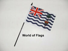 """INDIAN OCEAN TERRITORY SMALL HAND WAVING FLAG 6"""" x 4"""" Crafts Table Desk Display"""