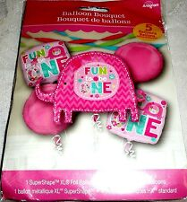 Anagram BIRTHDAY FUN TO BE ONE - ELEPHANT Pink Foil Balloon Bouquet