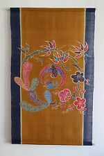 "Japanese Tapestry Oriental Art Fine Wall Hanging Bingata Hand Dyeing 35x59""Asian"