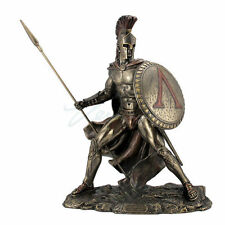 Leonidas Sculpture Spartan King Unleashed With Spear & Shield Statue Figurine