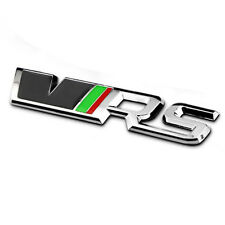 Car Styling 3D Sticker VRS Trunk Emblem Decal Grille Chrome RS Badge