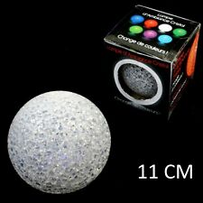 1 LAMPE BOULE CRISTAL LED 11 CM COULEUR CHANGEANTE DECO