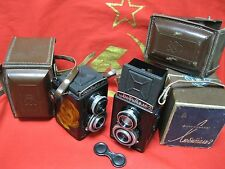 Lomo Lubitel-2 TLR Medium Format Camera 2 pcs Box Soviet Russian for restoration