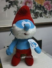 "X'mas The Smurfs Character Soft Plush Toy 9"" Papa Smurf Stuffed Teddy Doll"