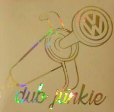 Chrome holographique marée noire vinyle VW V DUB JUNKIE T25 T4 T5 golf polo autocollant