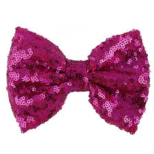 Lovely Baby Girl Sequin Fashion Handmade Hair Bow With Clip For Girls Hot US