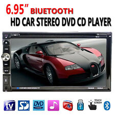 2 Din In dash Car Stereo Touchsreen HD TV DVD CD Player AUX Bluetooth Auto Radio