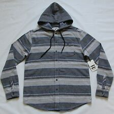 BILLABONG MENS ZIGGY HOODED FLANNEL WOVEN SHIRT JACKET SNOWBOARD SKI HOODIE M