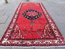 Vecchie tradizionali TAPPETO PERSIANO Lana Rosso Oriental HAND MADE lungo tappeto 367x192cm